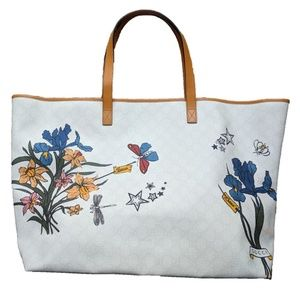 Gucci Floral Large Ivory Tote